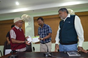 Winner At Photo Competition Theme 'Yellow'; Felicitated By Mr. P. C. Dhir